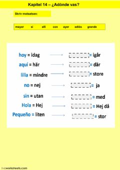 Interactive worksheet Kapitel 14 - uppgift 4 - åk 7