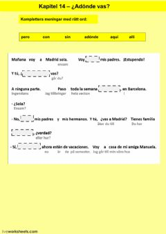Interactive worksheet Kapitel 14 - Läxa - åk 7