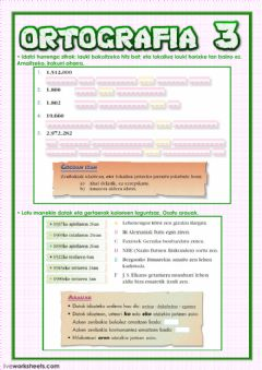 Interactive worksheet Ortografia 3