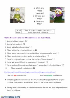 Interactive worksheet Worksheet Video first second conditional
