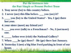 Ficha interactiva Present Perfect vs Past Simple