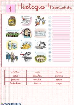 Interactive worksheet Hiztegia 4