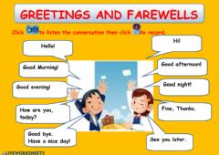 Ficha interactiva Greetings and farewells