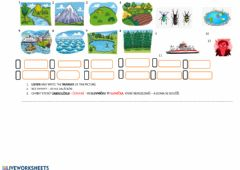 Interactive worksheet Places in nature
