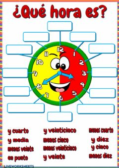 Interactive worksheet ¿Qué hora es?