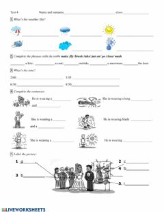Interactive worksheet Vocabulary and grammar
