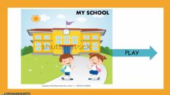 Interactive worksheet Parts of the school