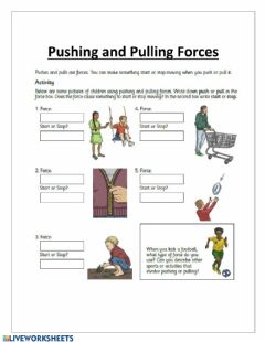 Interactive worksheet Pushes and Pulls