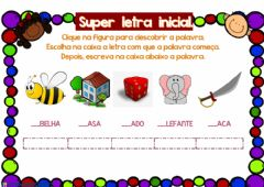 Interactive worksheet Super Letra Inicial