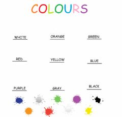 Interactive worksheet Colours audio