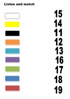 Interactive worksheet Numbers. 11-19. Listen and match.