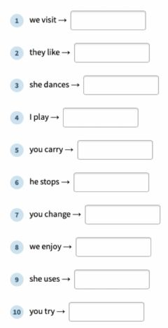 Interactive worksheet Past simple