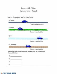 Interactive worksheet Friction