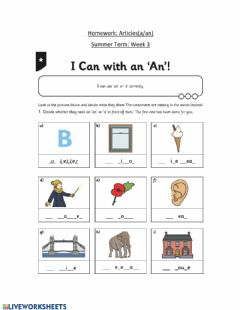 Interactive worksheet Articles