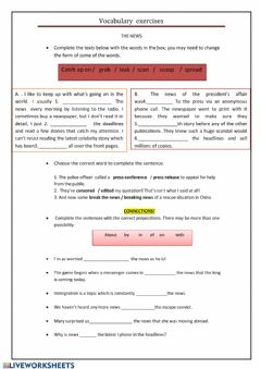 Interactive worksheet Vocabulary worksheets
