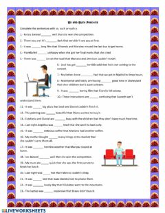 Interactive worksheet So and such