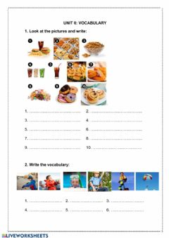 Interactive worksheet Vocabulary - food