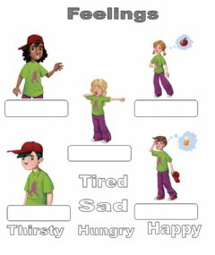 Interactive worksheet Feelings. Drag and drop.