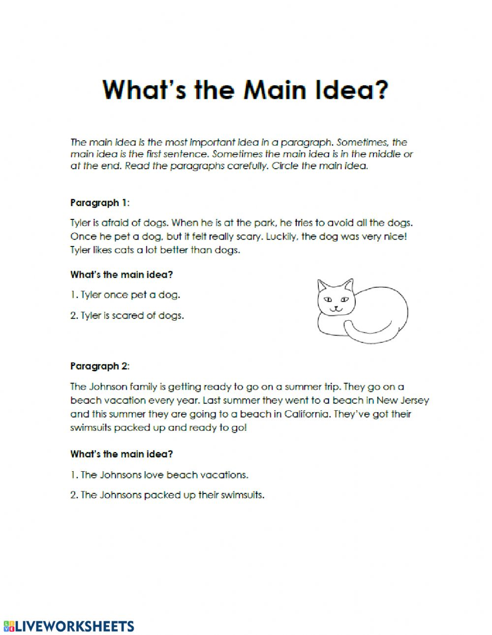 - Reading Comprehension- Non Fiction - Interactive Worksheet