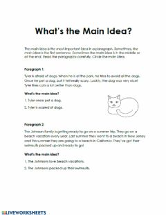 Interactive worksheet Reading Comprehension- Non Fiction