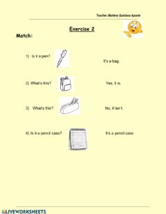 Interactive worksheet School 2