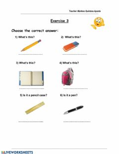 Interactive worksheet School 3