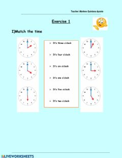 Interactive worksheet The time(1)