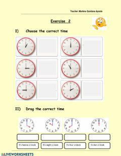 Interactive worksheet The time (1)