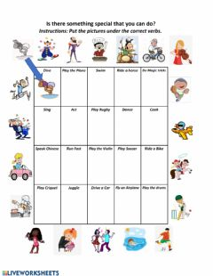 Interactive worksheet Special Abilities