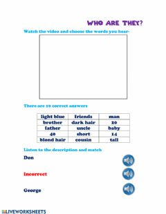 Interactive worksheet Listening appearance