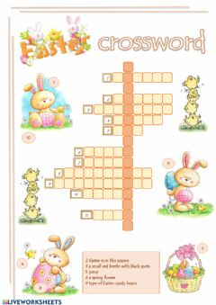 Ficha interactiva Easter Crossword