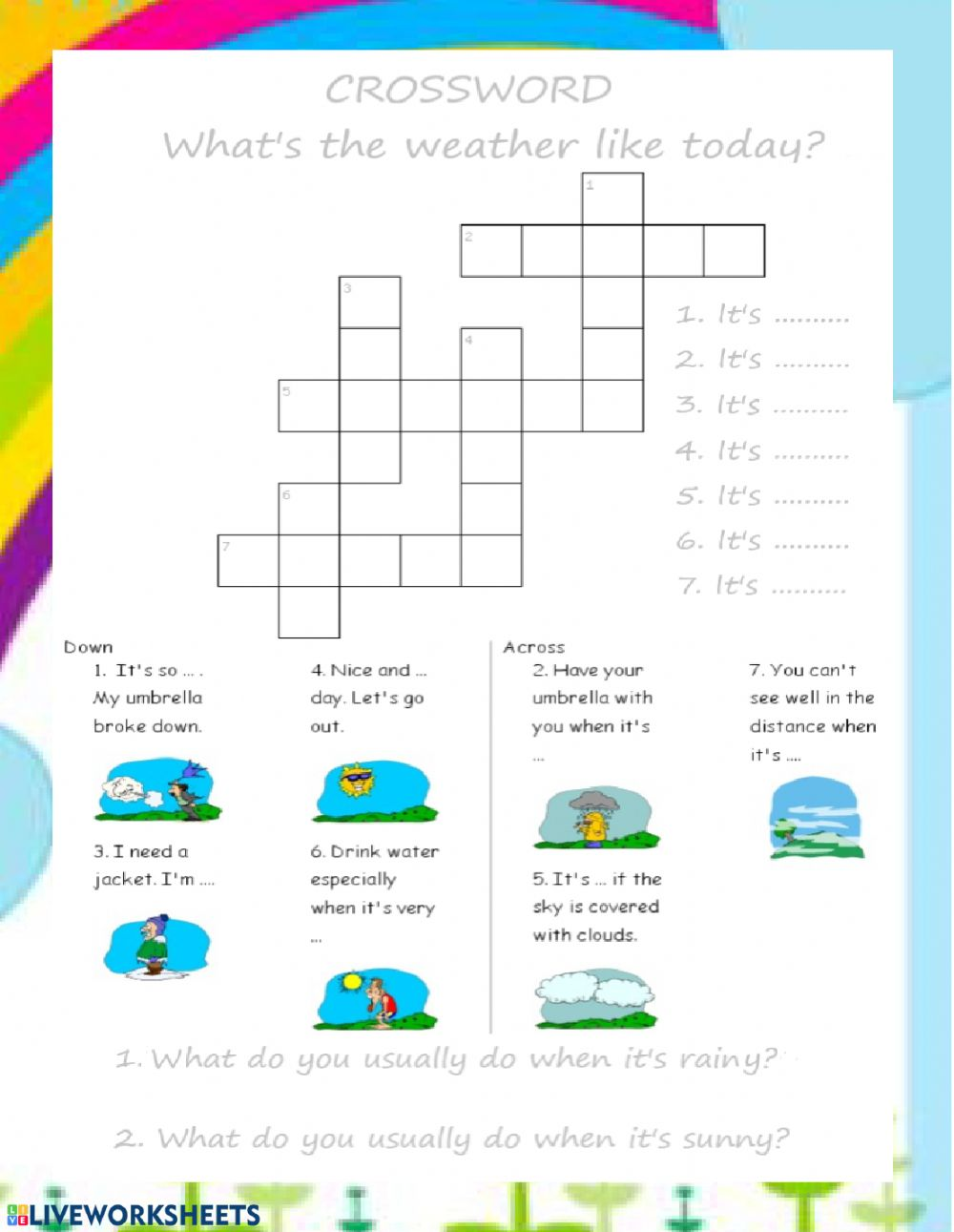 What S The Weather Like Today The Weather Worksheet