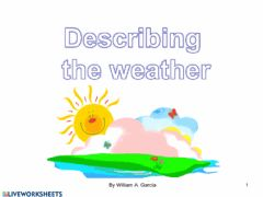 Interactive worksheet M2 - the weather