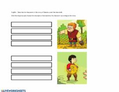 Interactive worksheet English - Character description