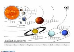 Solar System worksheet preview