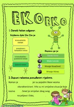 Interactive worksheet Eko Eko, H.H.