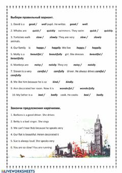 Interactive worksheet Form 5 Unit 8 adjective-adverb