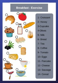 Interactive worksheet Yummy Breakfast