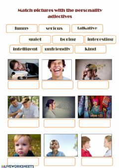 Interactive worksheet Personality 2