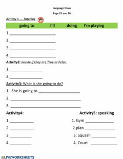 Holiday worksheet preview