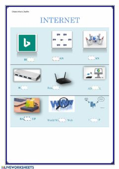 Interactive worksheet Completamento Internet