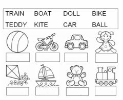 Ficha interactiva Vocabulary of toys