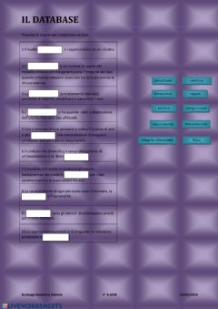 Interactive worksheet Trascinamento