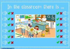 Ficha interactiva In the classroom there is ... - listening