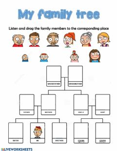 Interactive worksheet Listening family