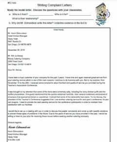 Ficha interactiva Writing Complaint Letters