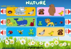 Interactive worksheet Nature (listenning)