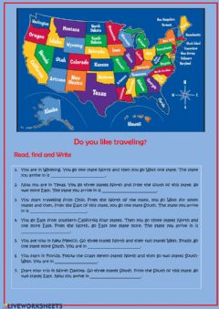 Interactive worksheet Do you traveling?
