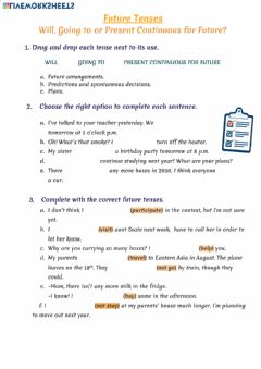Ficha interactiva Future tenses