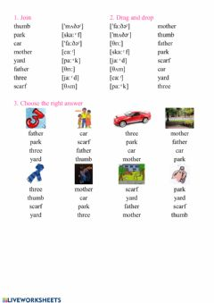Interactive worksheet Reading 21 - 22